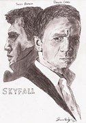 Craig Drawings - Skyfall by Sean Cordy
