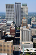 """boston Avenue"" Metal Prints - Skyline Aerial of Tulsa Oklahoma Metal Print by Bill Cobb"
