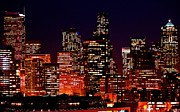 Seattle Skyline Framed Prints - Skyline Framed Print by Benjamin Yeager