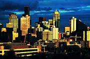Seattle Skyline Acrylic Prints - Skyline Colors Acrylic Print by Benjamin Yeager