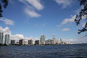 Miami Skyline Metal Prints - Skyline Miami Metal Print by Christiane Schulze