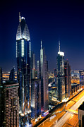 Fototrav Print - Skyline of Dubai at Night