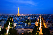 Paris Metal Prints - Skyline of Paris Metal Print by Michal Bednarek