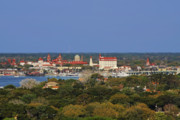 Bank Photos - Skyline of St Augustine Florida by Christine Till