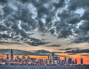 Jim Wright Art - Skyline sunset by Jim Wright