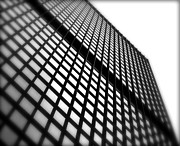 Office Cubicle Framed Prints - Skyscraper Facade Framed Print by Valentino Visentini