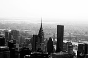 Black And White New York City Prints - Skyscraper Print by Linda Woods