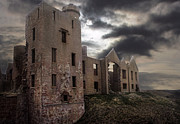 Deserted Castle Posters - Slains Castle in Mist  Poster by Jan Holm