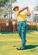 Golfer Paintings - Slamn Sammy by Harry West