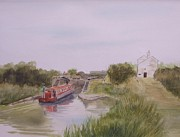 Engineering Painting Framed Prints - Slapton Lock Framed Print by Martin Howard