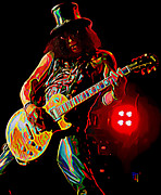 Guns And Roses Prints - Slash 2 Print by Byron Fli Walker
