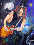 Guns N Roses Paintings - Slash 2 by To-Tam Gerwe