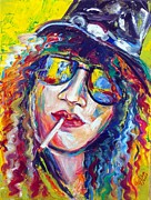 Guns N Roses Paintings - Slash 4 by To-Tam Gerwe