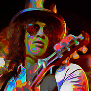 Guitar Digital Art Originals - Slash by Byron Fli Walker