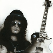 Musician Prints - Slash Print by Christian Chapman Art