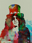 Slash Painting Posters - Slash Guns N Roses Poster by Irina  March