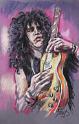 Guns N Roses Metal Prints - Slash Metal Print by Melanie D