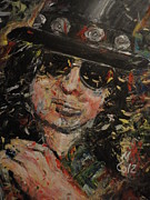 Slash Painting Posters - Slash Poster by Michael Co