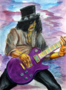 Slash Mixed Media Metal Prints - Slash number one Metal Print by Michael Cook