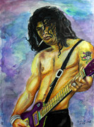 Slash Mixed Media Metal Prints - Slash number three Metal Print by Michael Cook