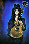 Slash Painting Posters - Slash Poster by Ruben Barbosa