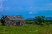 Finger Lakes Photo Originals - Slate barn near Keuka Lake by Steve Clough