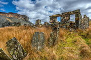 Abandoned Digital Art Prints - Slate Mine Ruins Print by Adrian Evans
