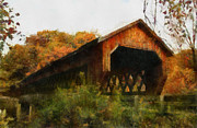 Old Country Roads Posters - Slate Ridge Covered Bridge Poster by Scott B Bennett