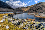 North Wales Digital Art Metal Prints - Slate Valley Metal Print by Adrian Evans
