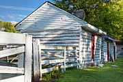 Franklin Farm Metal Prints - Slave Huts on Southern Farm Metal Print by Brian Jannsen