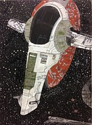 Starship Painting Prints - Slave I  Print by Alisa Freeman