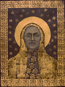 Icon Mixed Media Posters - Slavic Mother Goddess Poster by Diana Perfect