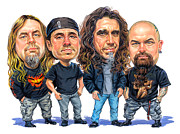 Caricature Paintings - Slayer by Art