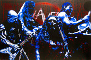 Metallica Paintings - Slayer -  Reign in Blood by Bobby Zeik