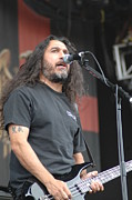 Slayer Prints - Slayer- Tom Araya Print by Jenny Potter