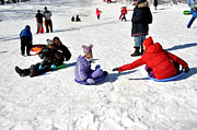 Diane Lent - Sledding on Snow in...