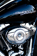 Classic Cycle Posters - Sleek Black Harley Poster by David Patterson