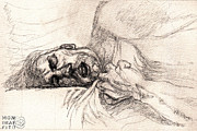 Young Man Drawings - Sleep Dirt sketch for painting by Mon Graffito
