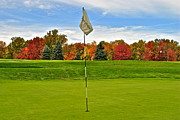 Golf Flag Posters - Sleep Hollow Brecksville Ohio Poster by Robert Harmon