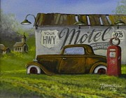 Rat Rod Painting Posters - Sleep Tight Poster by Whitey Thompson