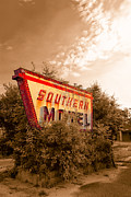 Southern Digital Art Prints - Sleeping At The Southern Motel - Fading Americana Print by Mark E Tisdale