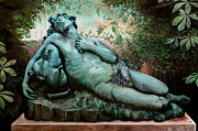 Paris Sculpture Posters - Sleeping Bacchus Poster by Kathleen English-Barrett