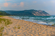 Sea Oats Prints - Sleeping Bear Dunes at Sunset Print by Sebastian Musial