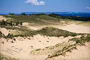 Landscape Greeting Cards Digital Art Posters - Sleeping Bear Dunes Poster by Christina Rollo