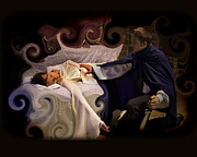 Angela Castillo Art - Sleeping Beauty and Prince by Angela Castillo