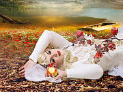 Creative Manipulation Digital Art Posters - Sleeping Beauty Poster by Ester  Rogers