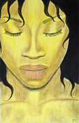 African American Artist Pastels - Sleeping Beauty by Sean Mitchell