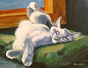 Kitten Drawings - Sleeping Beauty by Susan A Becker