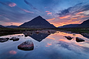 River Pyrography Metal Prints - Sleeping Giant - Buachaille Etive Mor Metal Print by Michael Breitung