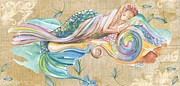 Sleeping Mermaid Posters - Sleeping Mermaid Poster by Sylvia Pimental